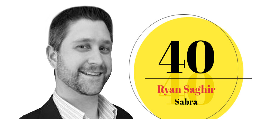 Ryan Saghir, Digital Marketing Director for Sabra, Named '40 Under '40