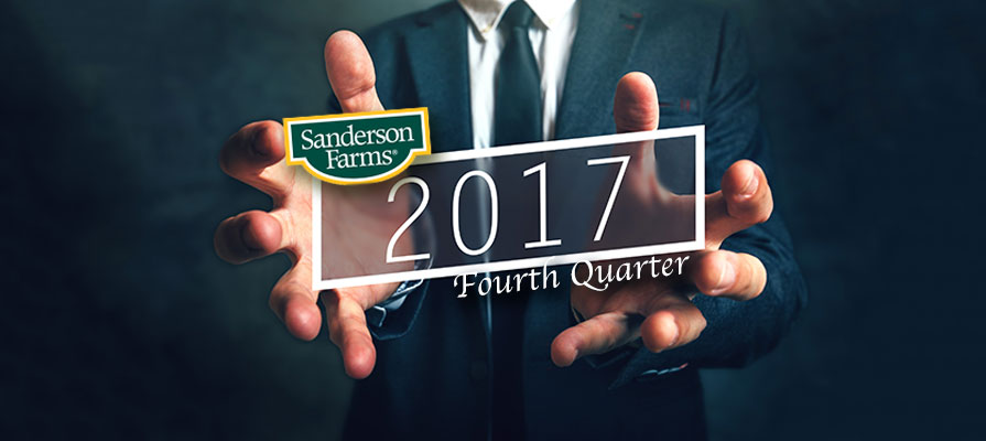 Sanderson Farms Reports Results for Fourth Quarter and Fiscal 2017