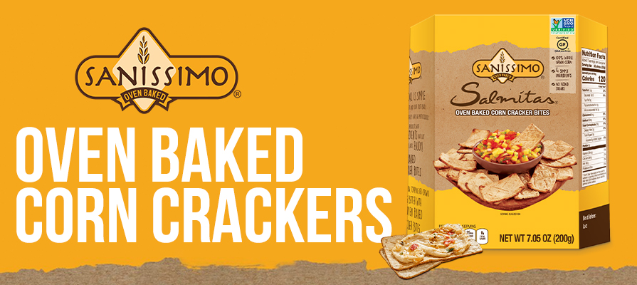 Sanissimo Debuts New Oven-Baked Corn Crackers in the U.S.