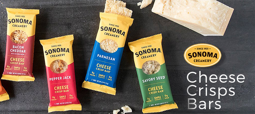 Sonoma Creamery Launches New Cheese Crisps Bars