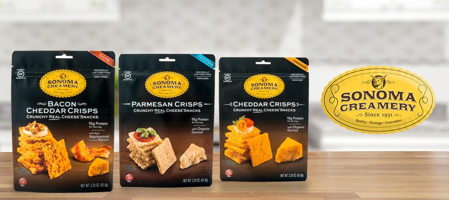 Sonoma Creamery Cheese Crisps Entice Consumers