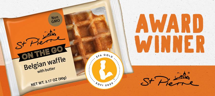 St Pierre Belgian Waffle Wins Gold Sofi Award