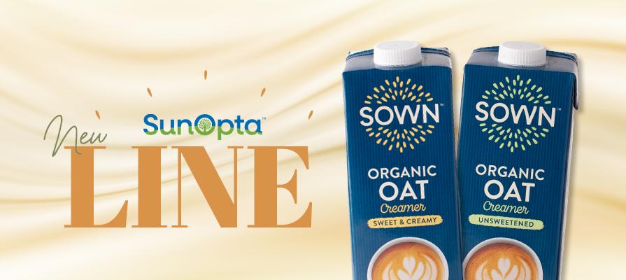 SunOpta Debuts SOWN™ Organic Oat Milk Creamer Line