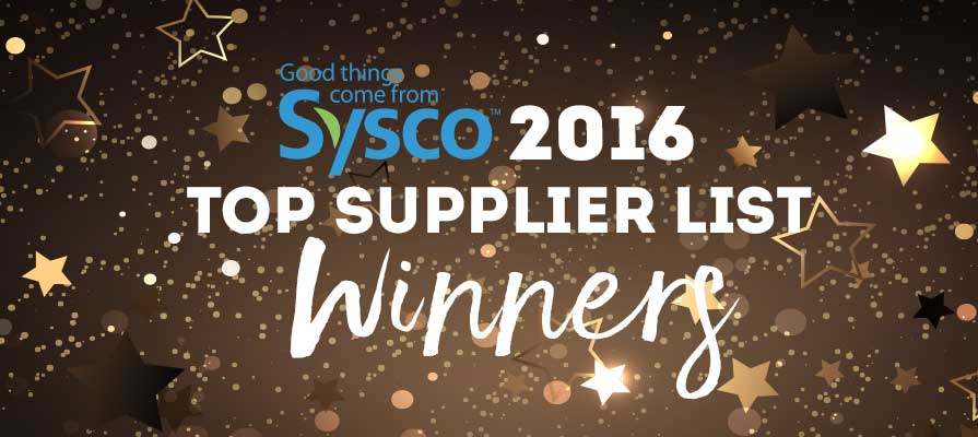 Sysco Names its 2016 Top Suppliers Awards