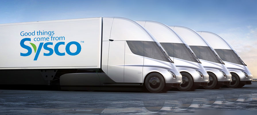 Sysco Teams Up with Tesla for an Electric Semi Tractor Fleet