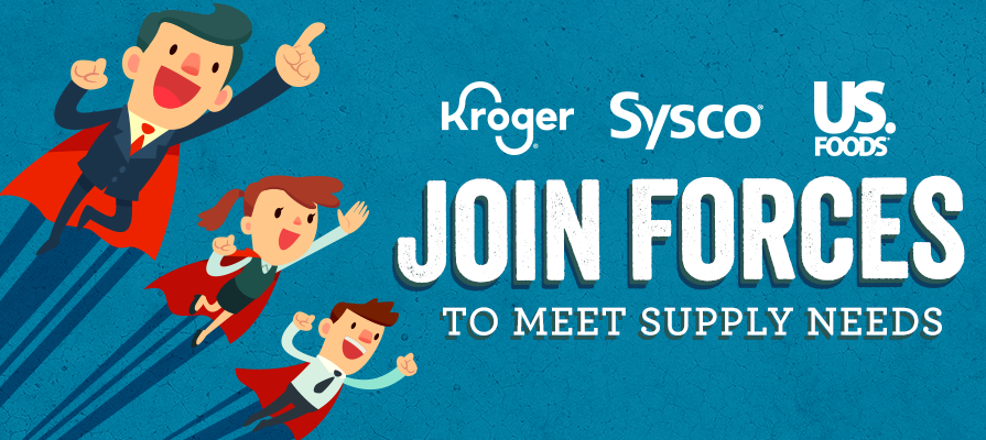 Kroger Partners with Sysco, US Foods, and More to Meet Critical Food Supply Needs