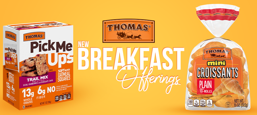 Thomas'® Adds Mini Croissants And Pick Me Ups™ Soft-Baked Oatmeal Squares