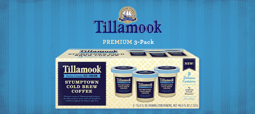 Tillamook Offers Stumptown Cold Brew Coffee Ice Cream for Retail