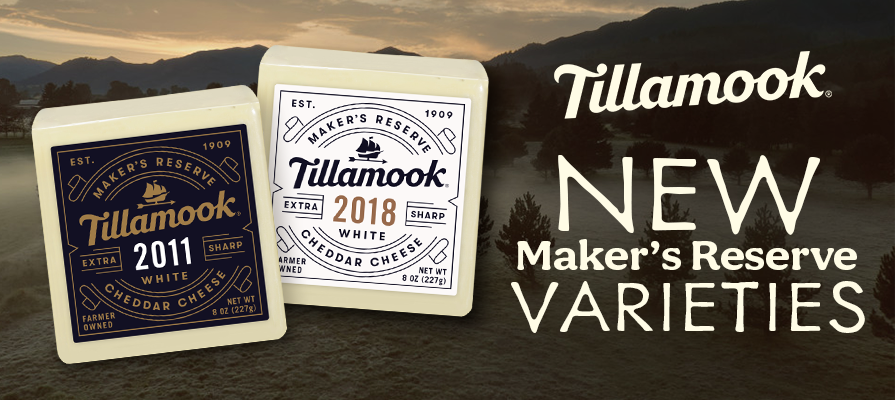 Tillamook Launches Two Additions to Vintage Cheddar Line