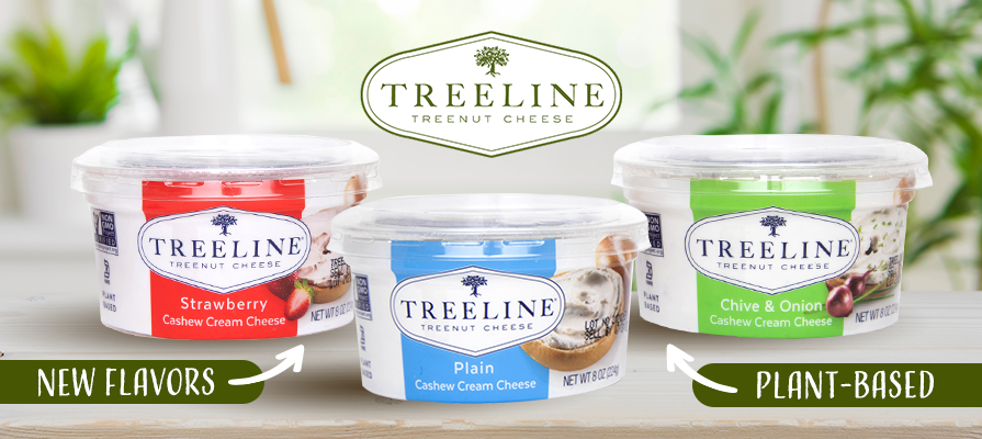 Treeline Cheese Introduces New Line Of Plant-Based Cream Cheeses