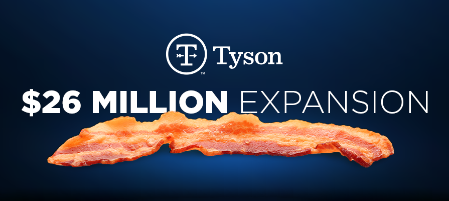 Tyson Foods Expanding Iconic Wright® Brand Bacon Plant