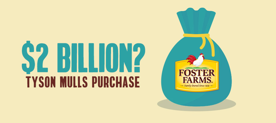 Reports: Tyson Foods In Talks to Buy Foster Farms for $2 Billion
