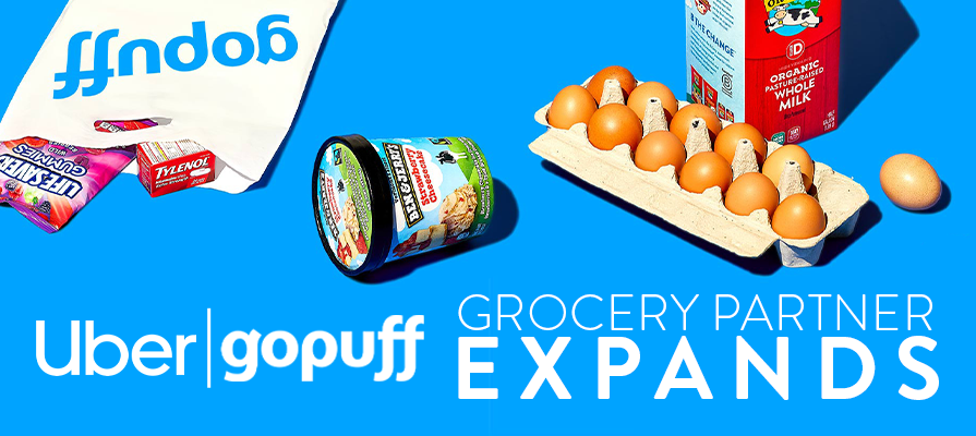 Uber and Gopuff Partner to Bring Everyday Essentials to Uber Eats