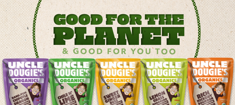 Uncle Dougie's New Flexible Squeeze Pouch Drastically Improves Sustainability