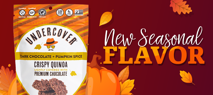 Undercover Snacks Launches Dark Chocolate + Pumpkin Spice As First-Ever Seasonal Flavor
