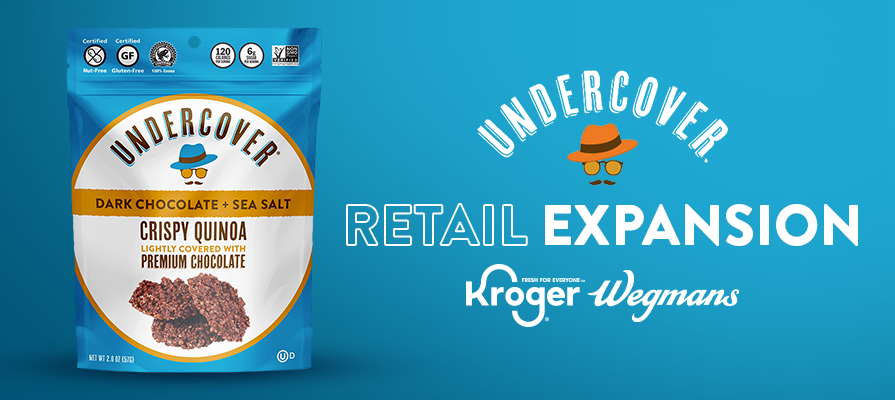 Undercover Snacks Expands Nationally Into Kroger and Wegmans Food Markets