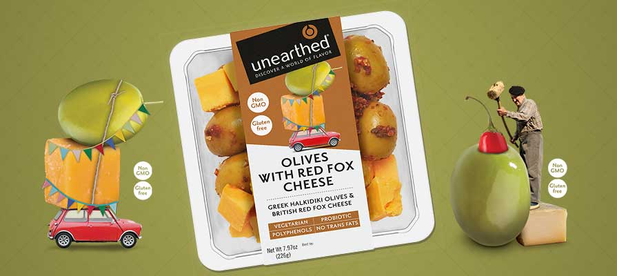 unearthed® Enters U.S. Market with Fresh Grab-and-Go Olive and Cheese Pairings