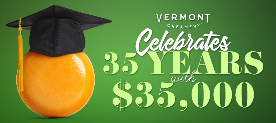 Vermont Creamery Celebrates 35th Anniversary, Donates $35,000 to the American Cheese Education Foundation for Scholarship Support