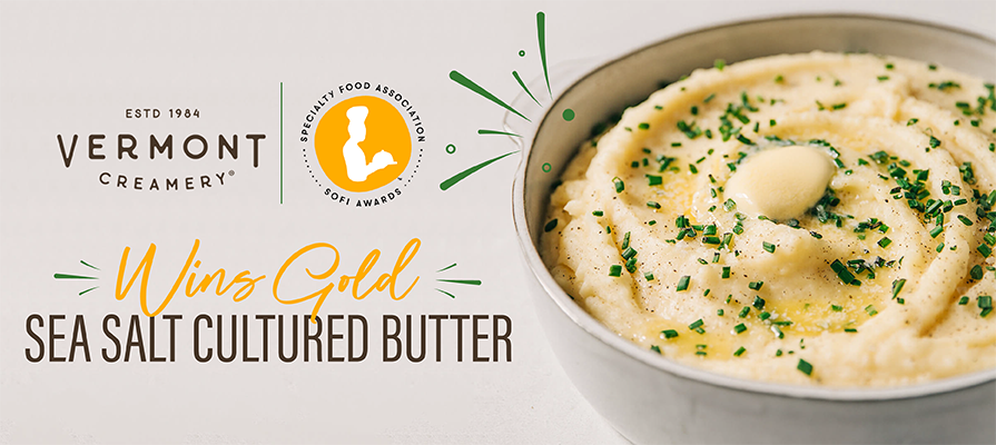 Vermont Creamery Wins Gold Award for Sea Salt Cultured Butter at the Specialty Food Association sofi Awards