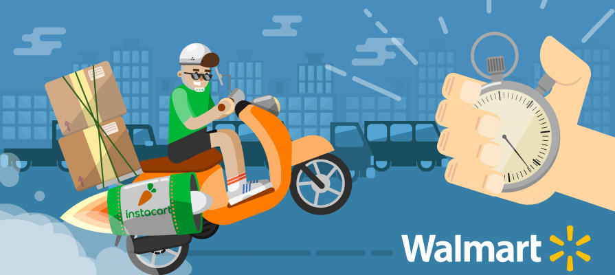 Walmart and Instacart Team-Up to Deliver Grocery in an Hour