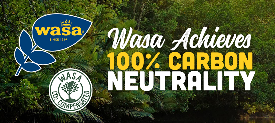 Wasa Achieves 100 Percent Carbon Neutrality