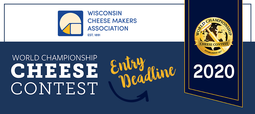 WCMA Announces World Championship Cheese Contest Entry Deadline
