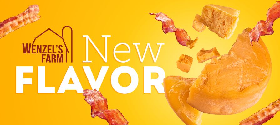 Wenzel's Farm Launches New Bacon Cheddar Flavored Snack Stick