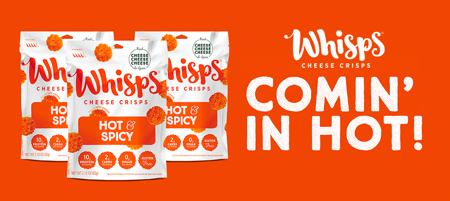 Whisps Launches New Hot and Spicy Cheese Crisps