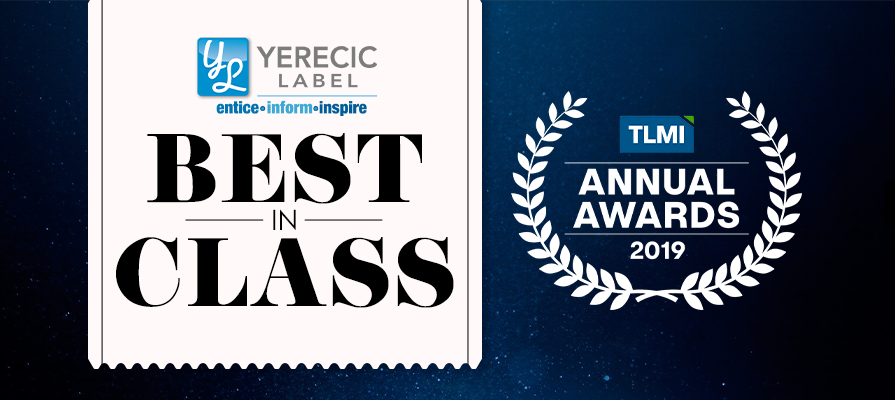 Yerecic Label Wins Best in Class at 42nd Annual Label Awards Competition