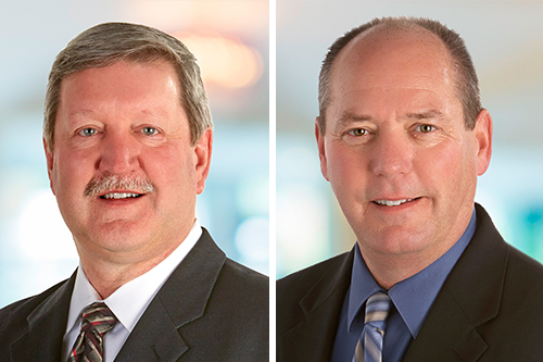 Tim Fritz, Vice President of Grocery Products Operations (left), and Donnie Temperley, Vice President of Refrigerated Foods Operations (right) are both retiring from the Hormel Foods executive ring