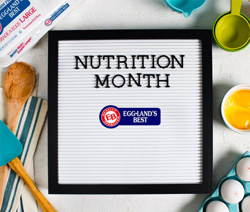 """In honor of National Nutrition Month, Eggland's Best (EB), the #1 branded egg in the U.S., is teaming up with the Life Time 60daySM program to encourage families to """"plus it up"""" when it comes to their overall nutrition and wellness"""