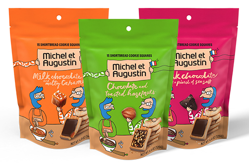 Michel et Augustin unveiled an exclusive U.S. packaging re-design and a new flavor at this year's Expo West
