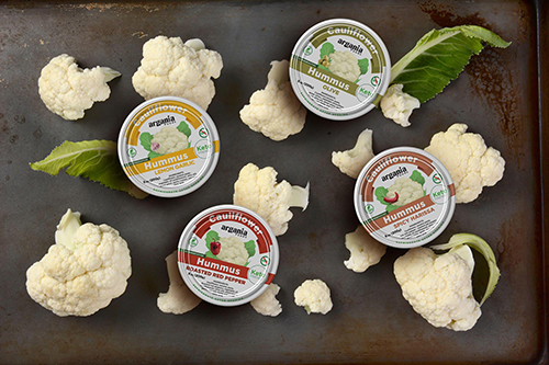 Vegetables as a whole, but cauliflower in particular, are increasingly popping up in untraditional categories like bakery, meat, and now hummus—thanks to Argania Foods