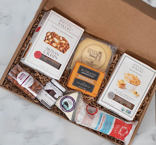 Board at Home kits are currently available in three sizes and offer an array of small-batch, hand-crafted cheeses, charcuterie, crackers, jam, nuts, and other perfectly paired accompaniments sourced from a rotating selection of California's finest makers and artisans