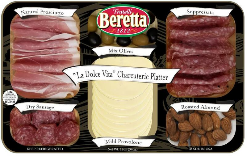 Fratelli Beretta's new La Dolce Vita Entertainment Trays take convenience to the next level by making consumers' lives easier when organizing food and charcuterie boards for a gathering