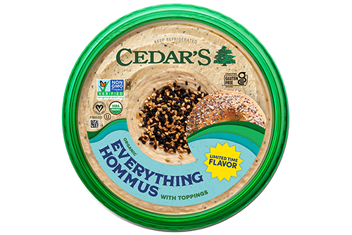 Cedar's Foods has introduced a Limited Batch Topped Organic Hommus flavor, Everything Hommus, at Whole Foods Market as the first flavor in a series of limited-batch flavors planned for the upcoming year (Photo credit: Business Wire)