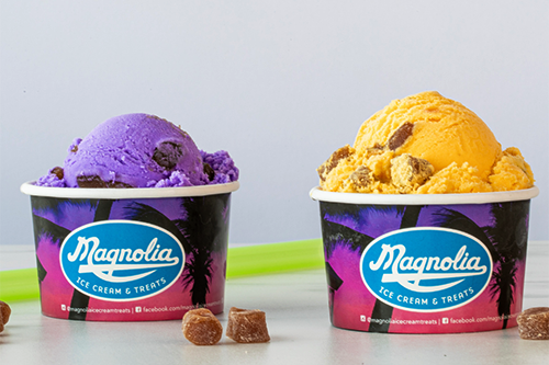 Magnolia Ice Cream and Treats recently announced it has expanded its delicious menu for a limited time with the addition of ube and mango boba ice cream