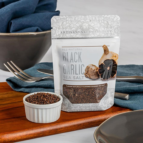 SaltWorks® Fusion® Black Garlic Sea Salt recently won the Specialty Food Association's 2020 sofi™ Awards' gold award in the Seasonings and Spices category