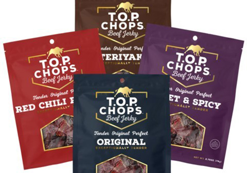 T.O.P. Chops jerky is made from American steer beef as opposed to dairy cattle, which yields a more tender and authentic flavor