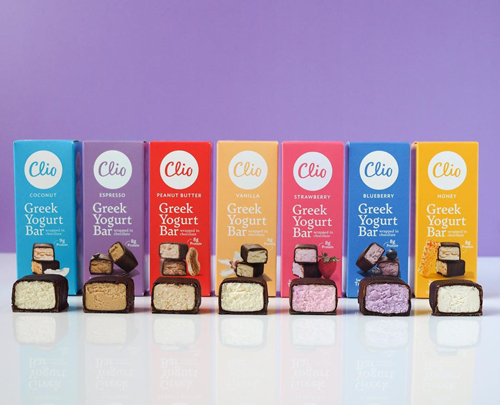 Clio Snacks, creator of the Greek yogurt bar wrapped in chocolate, recently closed on an $8 million funding round led by investment partner Alliance Consumer Growth