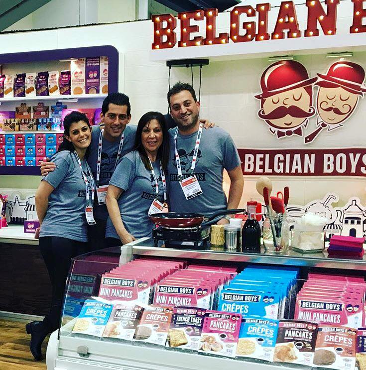 The Belgian Boys team exhibiting at the Summer Fancy Food Show in New York, NY, this past June