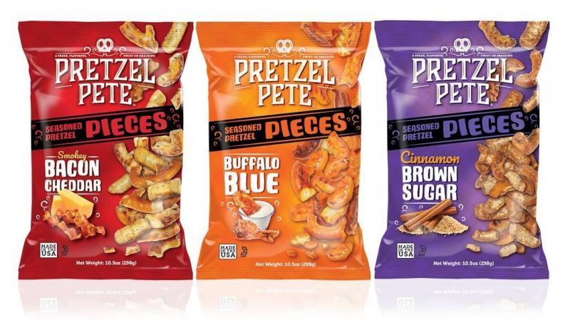 Pretzel Pete has added three new additions to its gourmet pretzel snack line