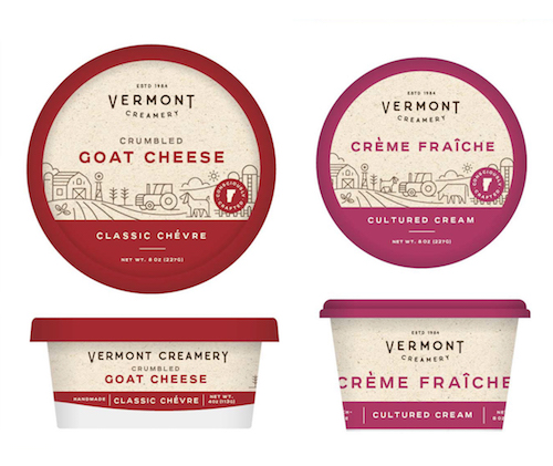 Newly rebranded Vermont Creamery products