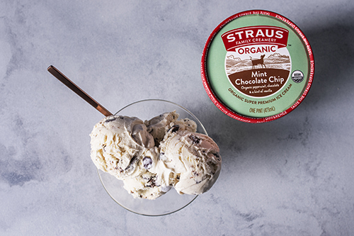 In the spring, Straus introduced three new ice cream flavors: Organic Chai Latte, Organic Vanilla Fudge Swirl, and Organic Maple Cream