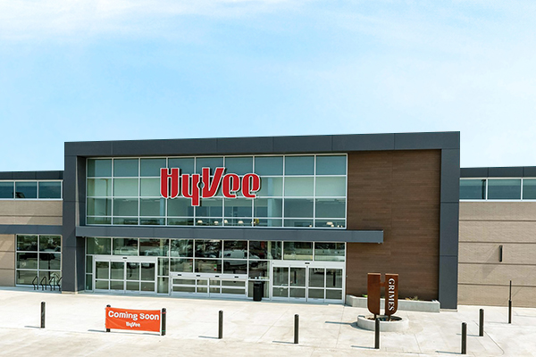 Hy-Vee opened the doors to its first entirely reimagined, $26 million location in Grimes, Iowa, sitting at around 93,000 square feet