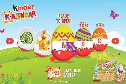 Ferrero announced it is is launching limited-edition Easter products from Kinder®, Kinder Joy®, Nutella®, Tic Tac®, Butterfinger®, CRUNCH®, Baby Ruth®, Ferrero Rocher®, and Fannie May®
