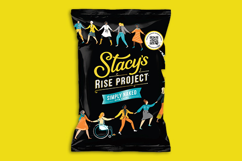 As part of its Stacy's Rise Project, Stacy's recently launched a new packaging innovation that helps shoppers find more female-founded businesses for their shopping needs