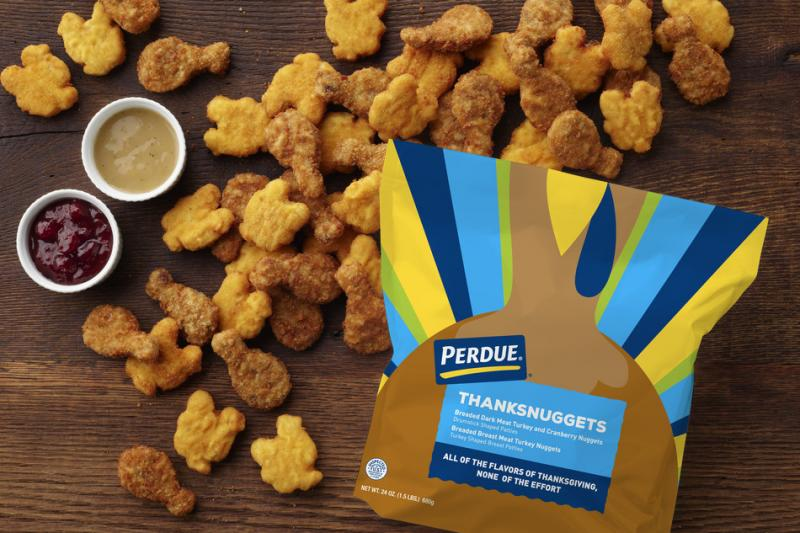 As Thanksgiving approaches, Perdue has revealed its new limited edition PERDUE® ThanksNuggets as a simple solution to holiday cooking