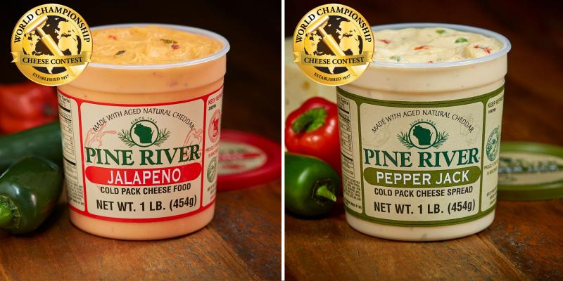 Pine River Pre-Pack recently announced that it earned five awards at the World Championship Cheese Contest, including the top spots in the Cold Pack Cheese Food and Cold Pack Cheese Spread classes