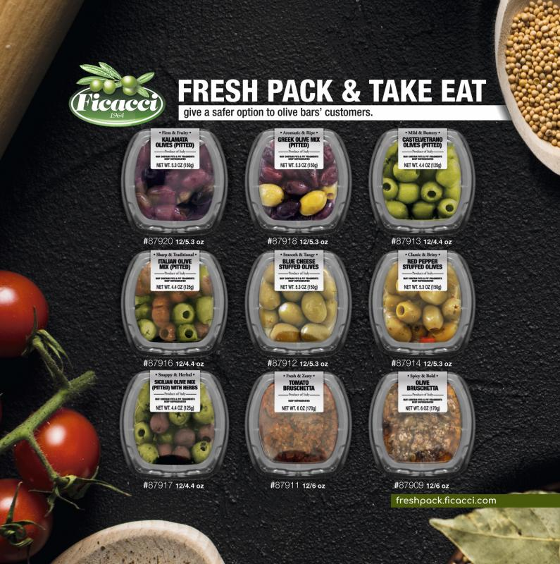 Since the pandemic hit, Ficacci Olive Company reports that consumers are more comfortable with buying a safe pack that is sealed at a certified plant with hygienic standards